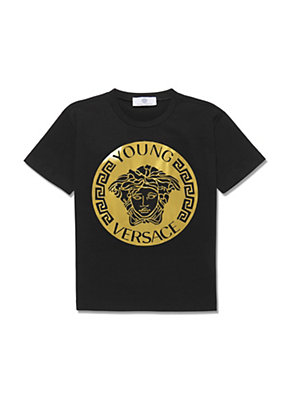 Young Versace Bambino T-shirt con stampa con logo