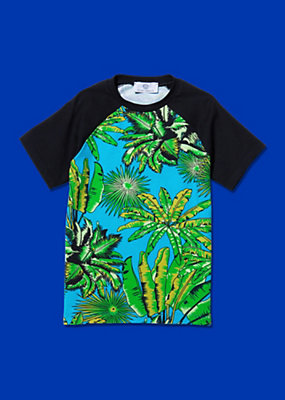 Young Versace Jungs T-Shirt mit Tropical-Print