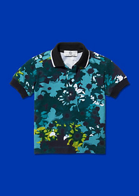 Young Versace Boys Floral Design Polo Shirt