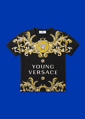 Young Versace Boys Barocco Printed T-Shirt
