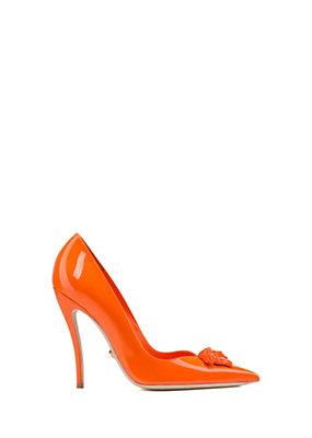 Versace Women Palazzo patent leather pumps