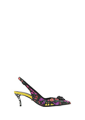 Versace Women Palazzo Floral print slingback pump